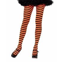 Medias Rayadas Naranja Negro Dark Gotico Lolita Mawiluz