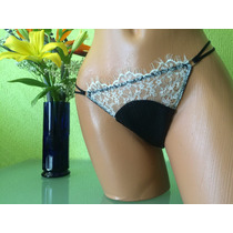 Victorias Secret Bikini Cachetero Con Encaje Blanco