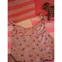 Victorias Secret The Printed Pink Top Tipo Corsett Sz L