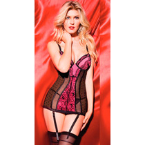 Baby Doll Vicky Form Vestido Copa Push Up Con Liguero 9289