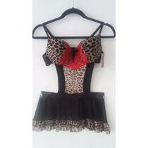 Body Con Brasiere Y Minifalda Leopardo Talla Mediano *:*