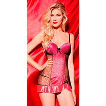 Baby Doll Vicky Form 9272 Vestido Push Up Con Tanga Lenceria
