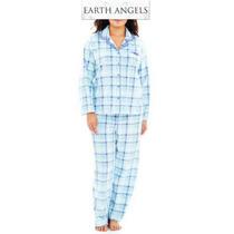 Conjunto 2xl Earth A Pijama Set Azul Blusa Pantalon Xxl Dama