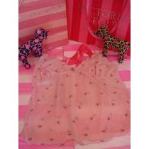 Victorias Secret The Embroidered Pink Flower Top Blusita L