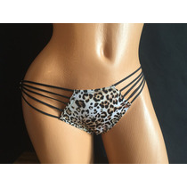 Victorias Secret Bikini Panty Animal Print Con Listones Mb14