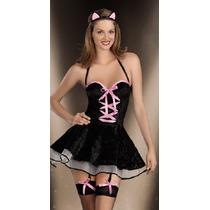 Sexy Disfraz Gatita Todo Incluido! Talla M Halloween