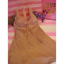 Victorias Secret The Pink Soft Baby Doll 100% Seda Sz L