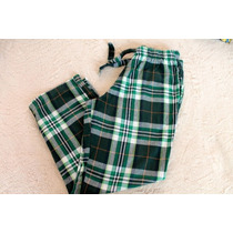 Old Navy Pantalon Pijama Caballero Cuadros Verde Talla M