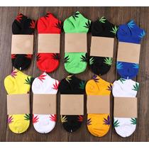 Calcetines Unisex Hoja De Marihuana Moda Tines, Calcetas