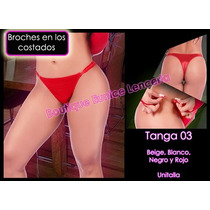 Set De 6 ¡¡¡ Sexy Mini Tanga Con Broches Al Costado Vmj