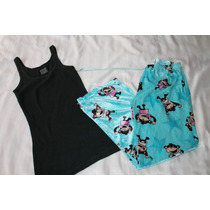 Mossimo Set Pijama Dama Velour Changuitos Talla L