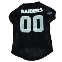 Camisa Para Perro Nfl Oakland Raiders Mascota Jersey Grande
