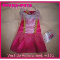 Lindo Vestidito Perritas, Diseño Exclusivo.disfraz Aurora