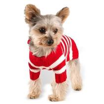 Suéter Para Perro Diseñador De Ropa Para Mascotas, Red Stri