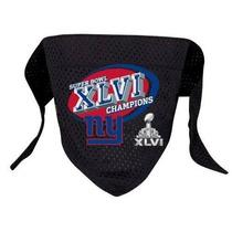 Pañoleta Para Perro Nfl New York Giants 2011 Del Super Bowl