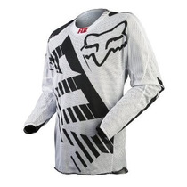 Jersey Fox 360 Savant Blanco Mesh Talla S Motocross Downhill