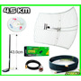 Kit 5 En 1 Antena Rejilla 4.5km Cable 6m Red Claves Internet