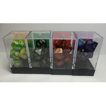 Juego Premium De 7 Dados Rpg Chessex 26 Colores Diferentes