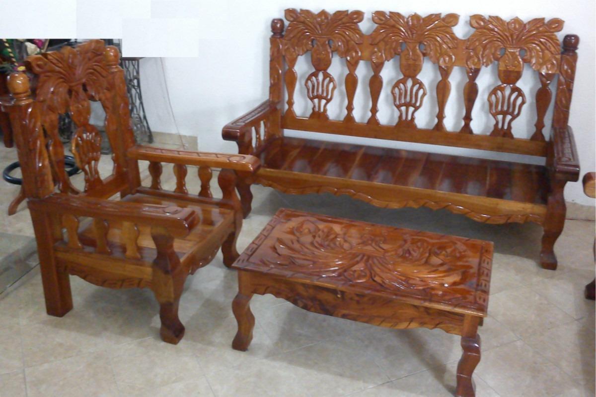 Muebles tallados en madera cedro 20170726094509 for Salas de madera modernas
