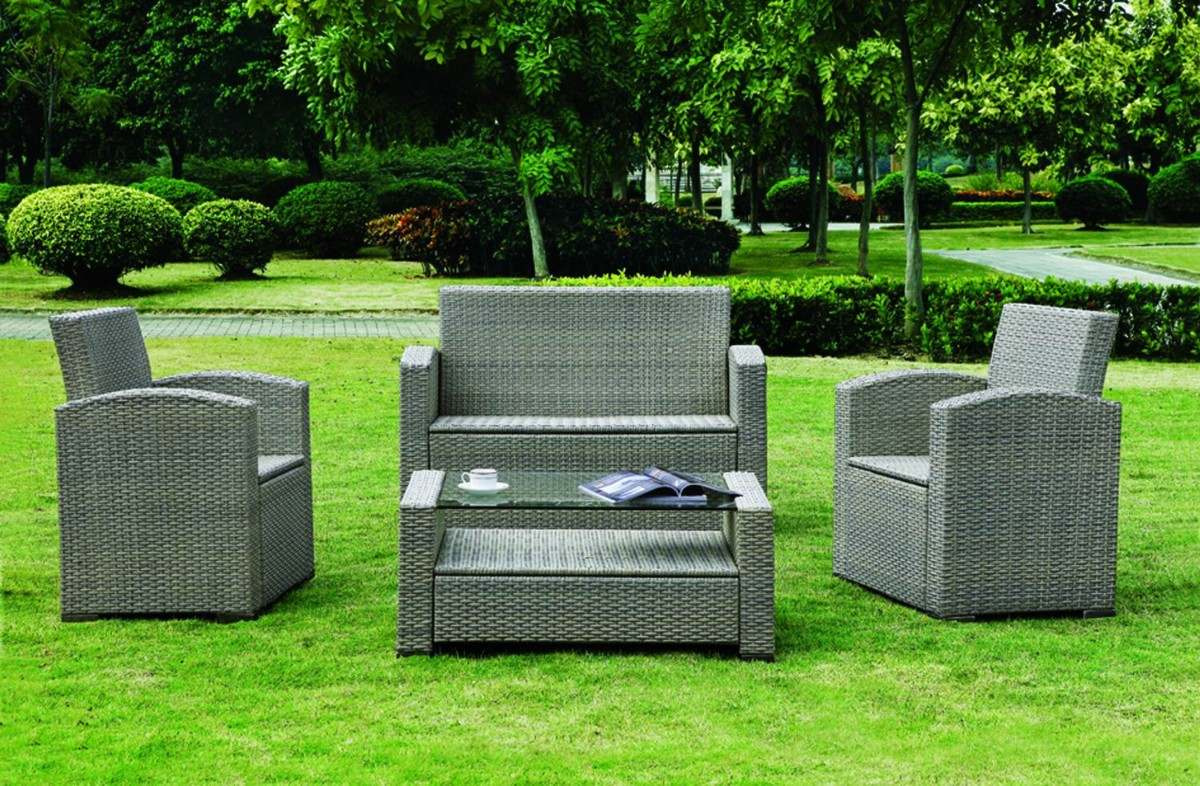 Sala de rattan sint tico ideal para terraza o jard n ys for Rattan sintetico muebles jardin