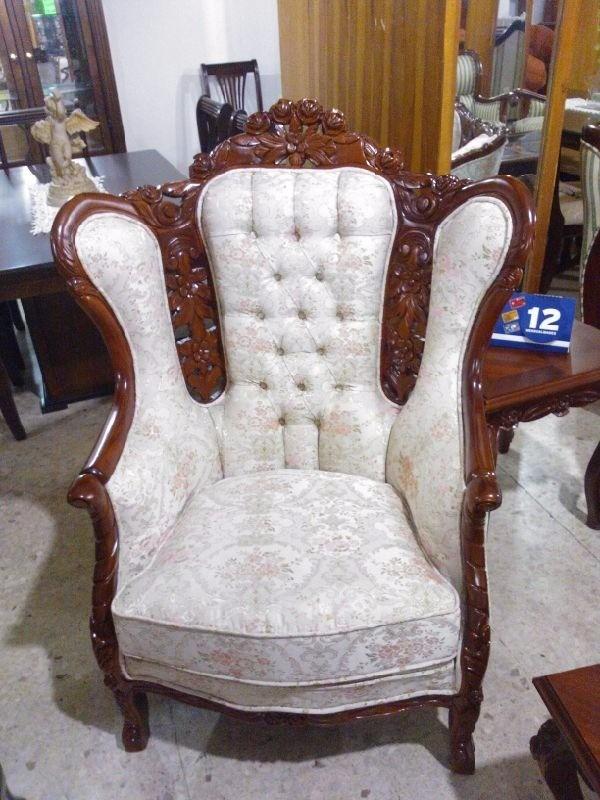 Muebles Para Baño Toluca:Sala Provenzal Luis Xv En Cedro Rojo Tallada A Mano 4-2-1 – $ 23,800