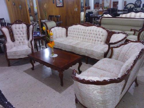 Sala Provenzal Luis Xv En Cedro Rojo Tallada A Mano  $ 25,80000 en