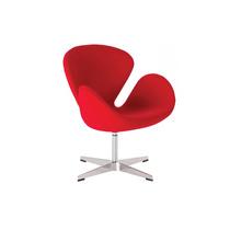 Sillón De Diseñador Color Rojo.