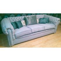 Sofa De Lujo Capitoneado Modelo Perla, Exclusivo Salas Conva