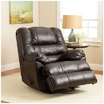 Sillon Reclinable Piel De Lujo Color Expreso Simmons Oferta!