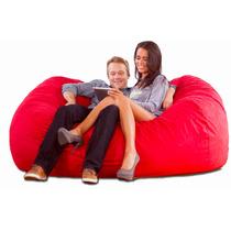 Sofá Cama Love Seat Tipo Puff En Gamuza Cómodo Y Económico