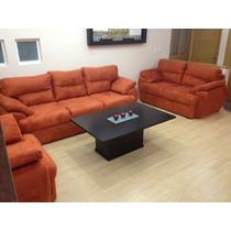 Sala Mod. Atenas 3-2-1. Sofa, Love Seat Y Sillón Minimalista