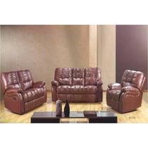 Sofa Y Love Con Reclinables De Piel