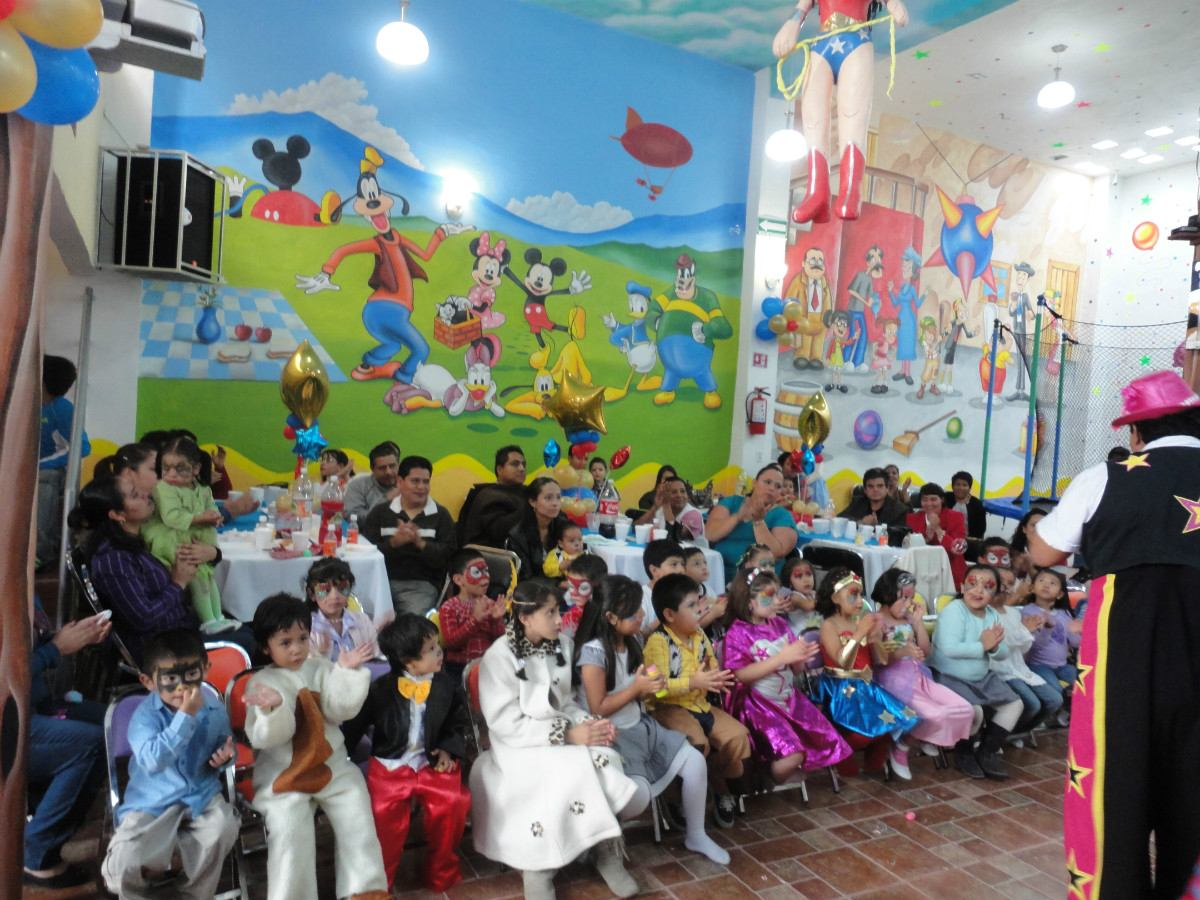 Sal n de fiestas infantiles en nezahualc yotl tamborileiro for Imagenes decoracion fiestas infantiles