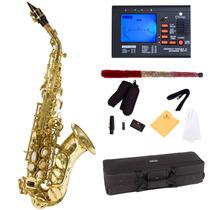 Saxofon Soprano Mendini Lacado En Dorado Hm4