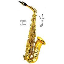 Saxofon Alto Laqueado Marca Silvertone C/ Estuche Slsx009