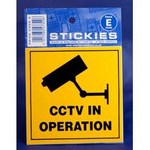 Cctv Sign - En La Operación Etiqueta De Advertencia Square