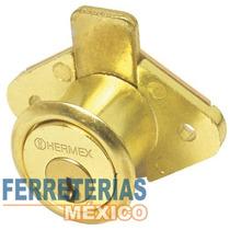 Cerradura Mueble Modelo 21 Laton Vertical Hermex 43566