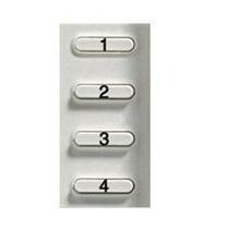 4 Pulsadores P/intercom Telefono Pivot Bticino 337512
