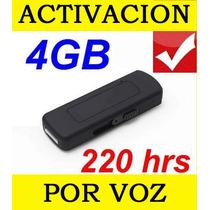 Microfono Espia Usb Grabadora Se Activa Al Detectar Voz Au1