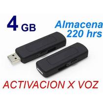 Microfono Espia Grabador Usb Activación Por Voz 4gb Original