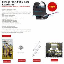Sensor De Movimiento Pir 12v Para Exterior Panel Solar 12 V