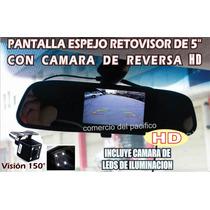 Camara De Reversa Y Monitor Integrado Espejo Retrovisor Hd