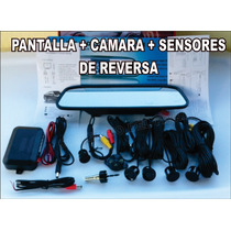 Espejo Retrovisor Pantalla 4.3 + Camara + Sensores Reversa