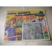 Tierra De Pasiones Jorge Negrete Lobby Card Cartel Poster