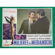 Jorge Rivero Mujeres De Medianoche Sexy Orig Cartel De Cine