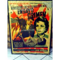 Poster Original Mexicano Cartel De Cine Vintage, Buñuel 1955