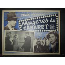 Meche Barba, Mujeres De Cabaret Cartel (lobby Card)