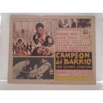Fernando Soler, Campeon Del Barrio, Cartel (lobby Card)