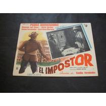 El Impostor Pedro Armendariz Lobby Card Cartel Poster