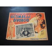 Victimas Del Divorcio Luis Aguilar Lobby Card Cartel Poster